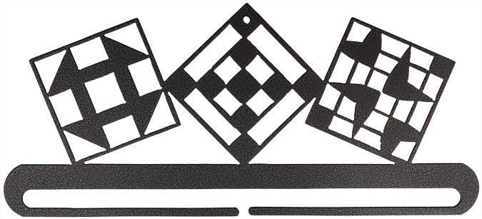 Quilt Blocks Split Bottom Sleeve 12 Hanger