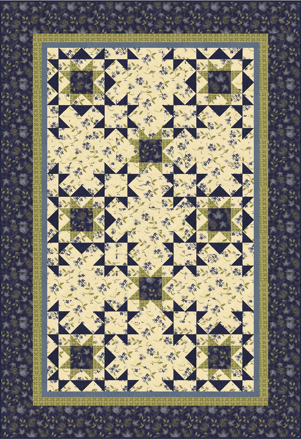 Antler Quilt Design Northern Mountains