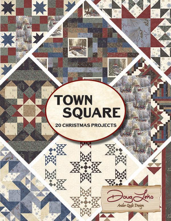 Moda Town Square Book with 20 Christmas Projects by Doug Leko
