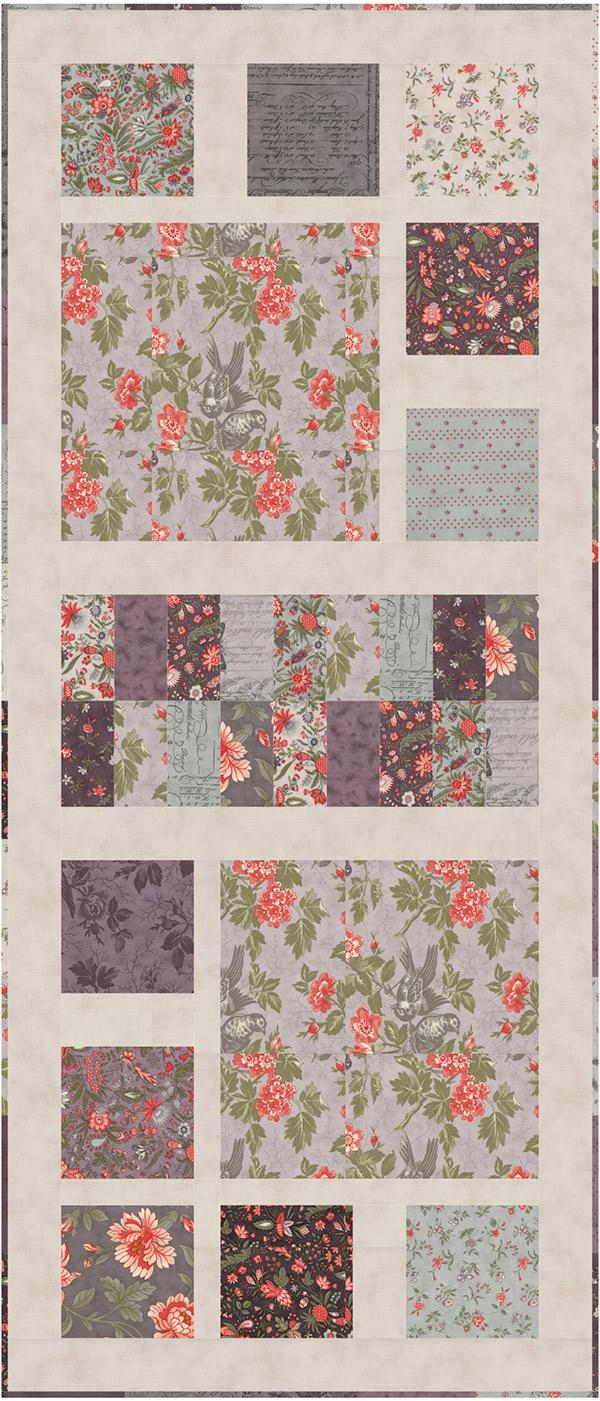 Enchantment Table Runner Pattern designed by Doug Leko, 47 x 20