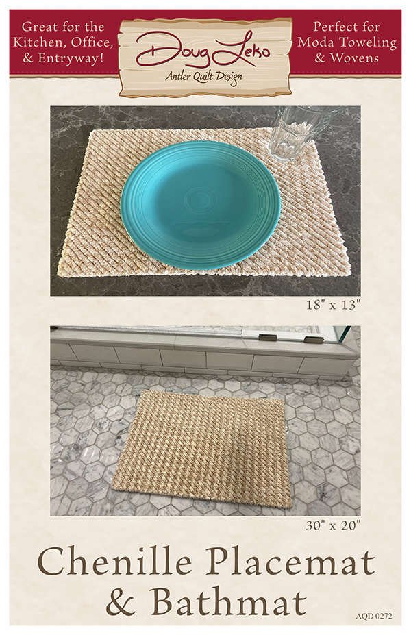 Chenille Placemat & Bathmat Pattern