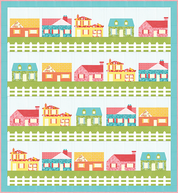 Neighborly Quilt Kit (Includes backing fabric & pattern)