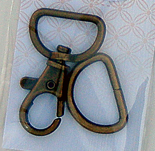 Swivel Clip & D Ring Antq Brass
