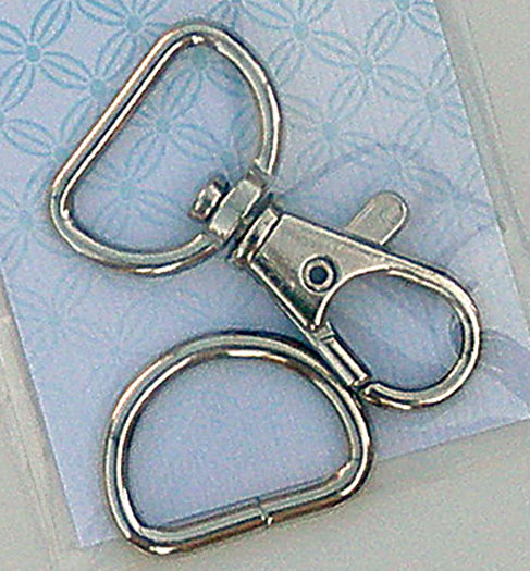 Swivel Clip & D Ring Nickel