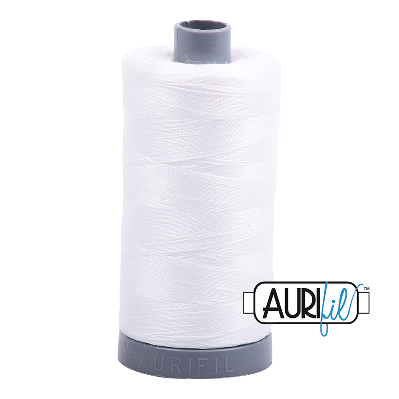 Mako Cotton Embroidery Thread 28wt 820yds Natural White
