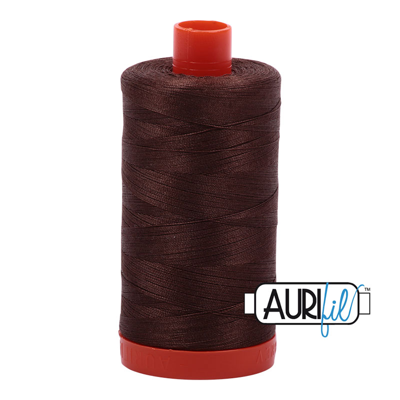 Cotton Mako Thread 50wt 1300m - MED BARK R