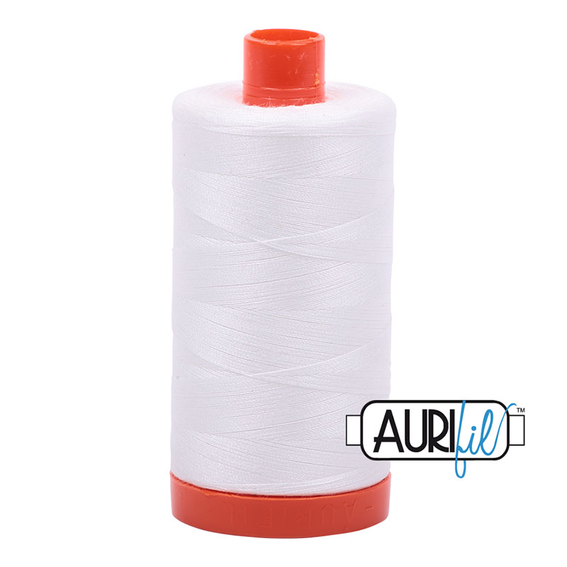 Cotton Mako Thread 50wt 1300m Natural White