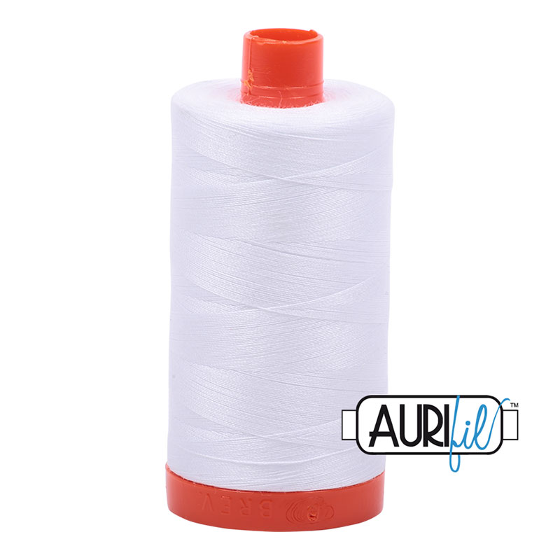 Cotton Mako Thread 50wt 1300m White