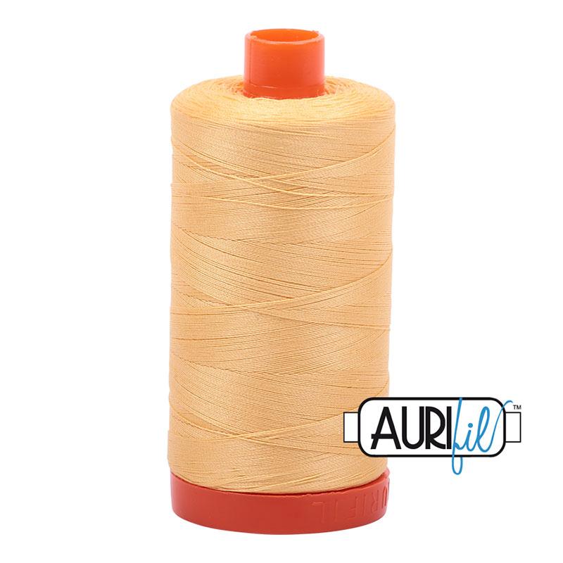 Aurifil 2130 Cotton Mako Thread 50wt 1300m Medium Butter