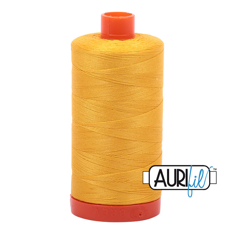 Aurifil 2135 Large Spool Thread 50wt 1300m Yellow