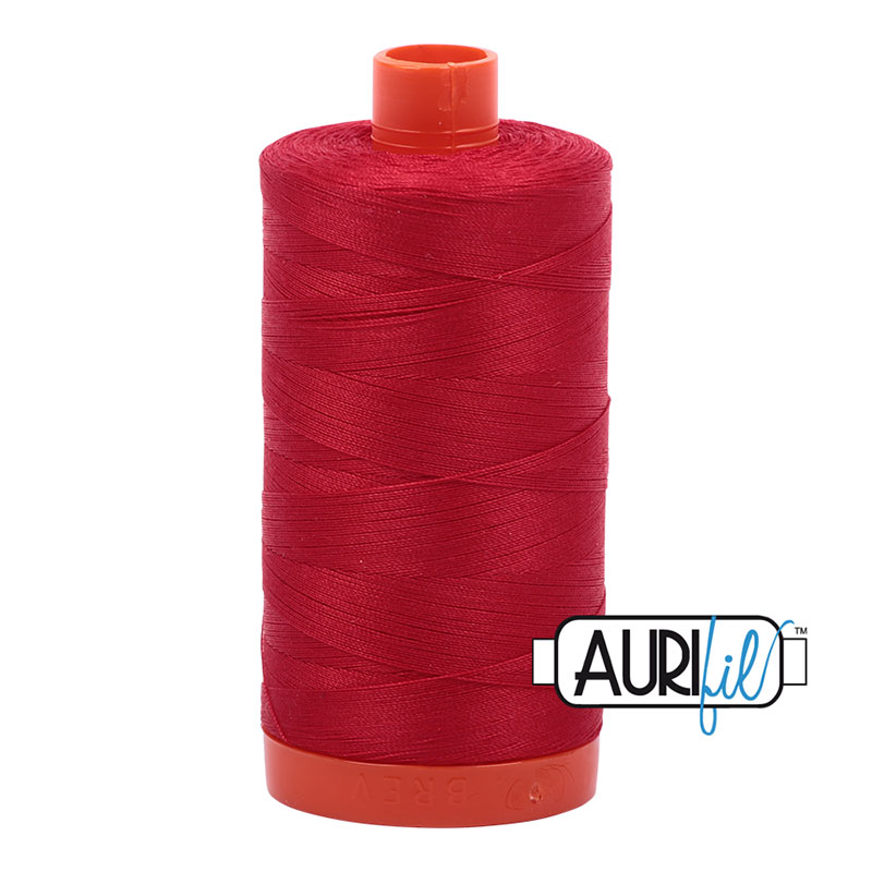 Aurifil Cotton Mako Thread 50wt 1300m: Red Wine 2260