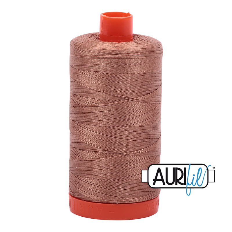 Cotton Mako Thread 50wt 1300m cafe au lait