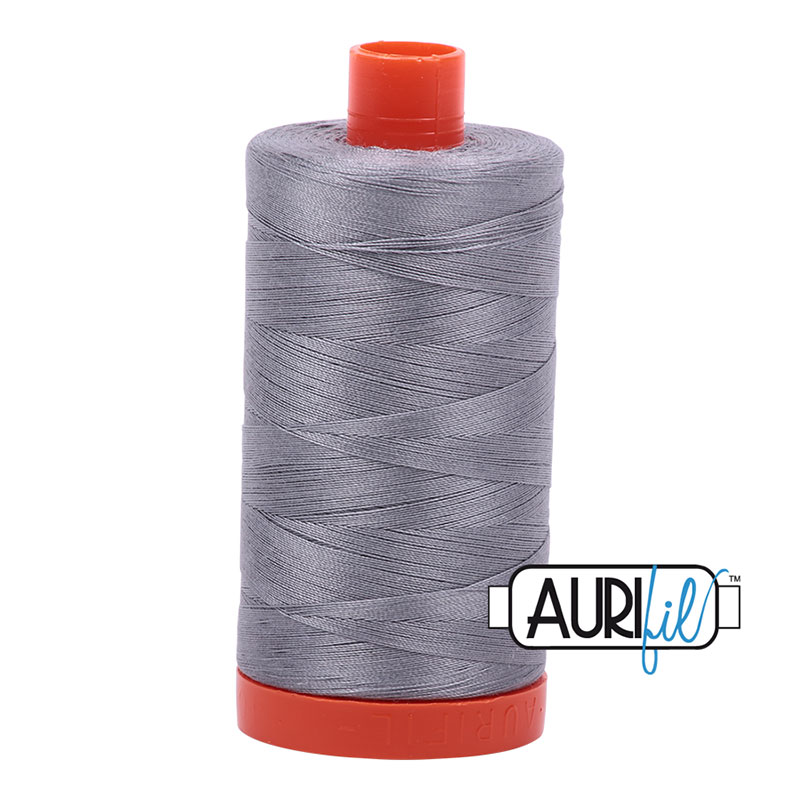 Cotton Mako Thread 50wt 1300m - MED GRAY R