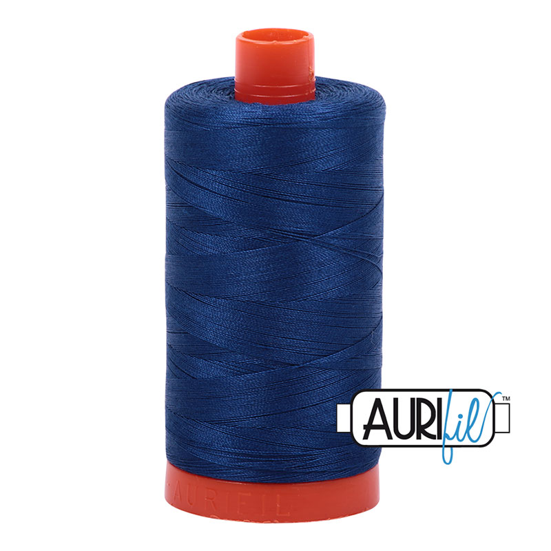 Aurifil 2780 Cotton Mako Thread 50wt 1300m Dark Delft Blue