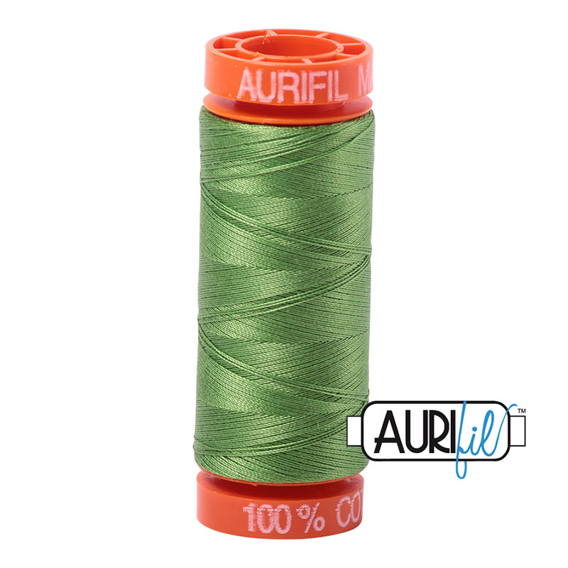 Aurifil Mako Cotton Thread 50wt 220yds - Grass Green
