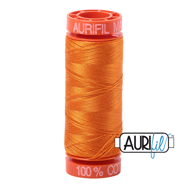Cotton Mako Thread 50wt 200m Bright Orange