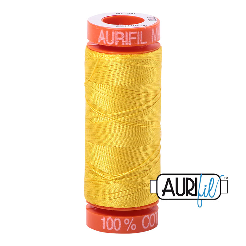 Aurifil Mako Cotton Thread 50wt 220yds - Canary 2120