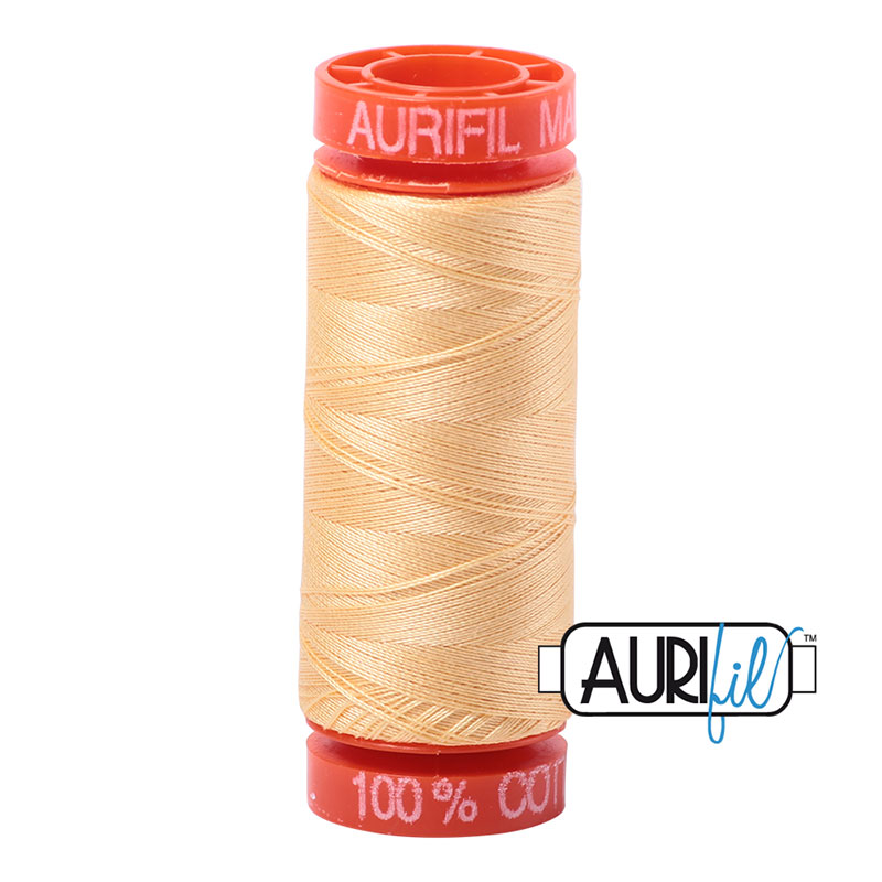 Aurifil Mako Cotton Thread 50wt 220yds - Medium Butter 2130