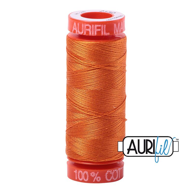 Aurifil Mako Cotton Thread 50wt 220yds - Pumpkin 2150