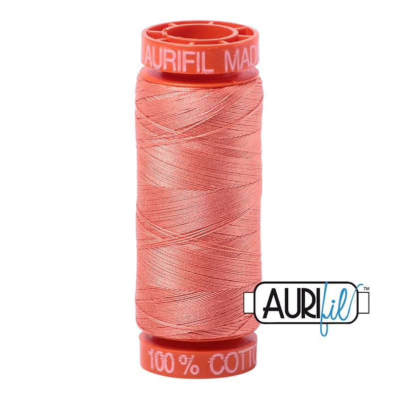 Aurifil Mako 50wt Solid 219yds - LIGHT SALMON 2220