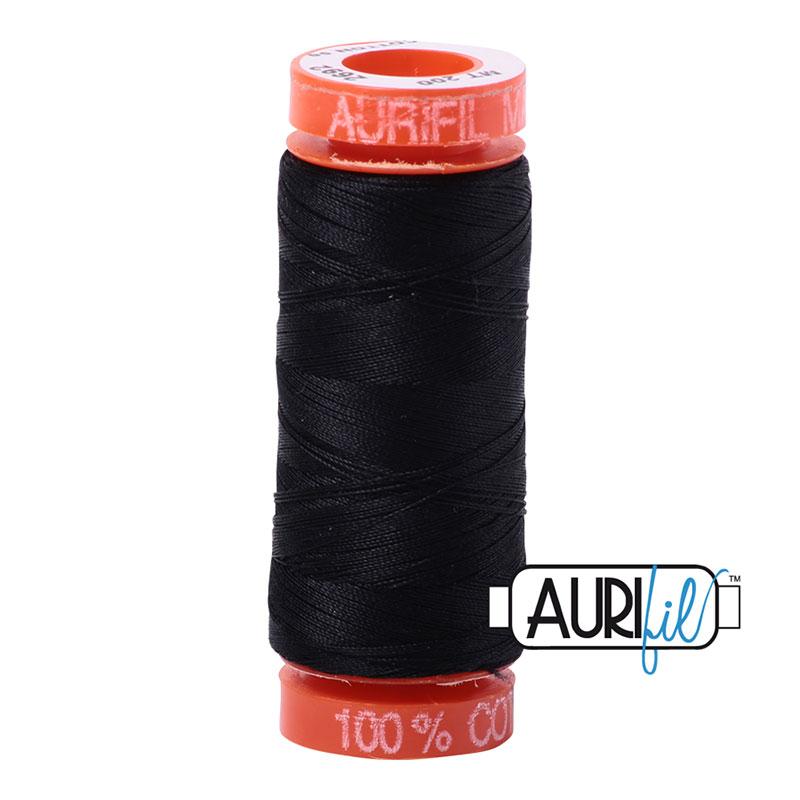 Aurifil Mako Thread 50wt 200m Black