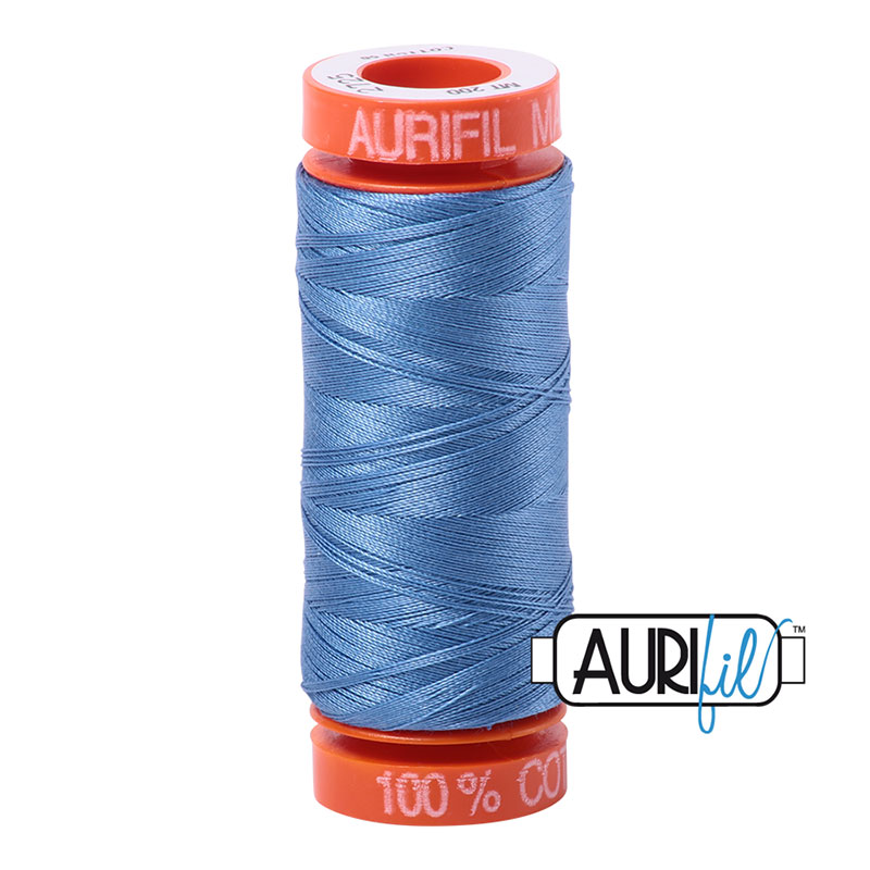 Aurifil Mako Cotton Thread 50wt 220yds - Light Wedgewood 2725