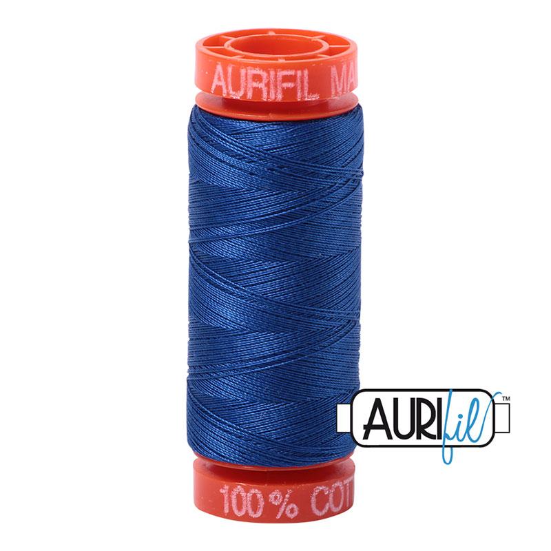 Aurifil Mako Cotton Thread 50wt 220yds - Medium Blue 2735