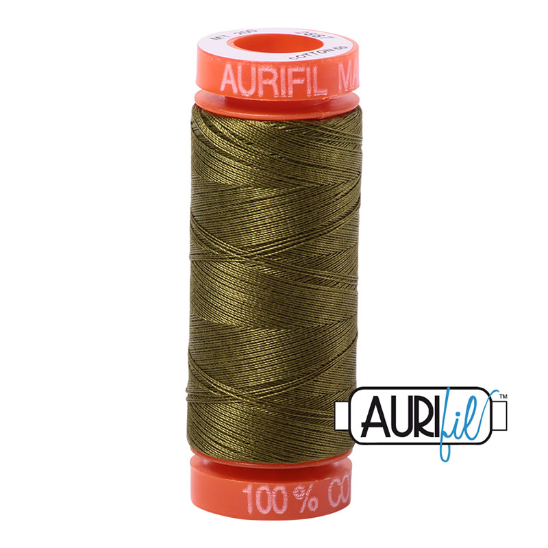 Aurifil Mako Cotton Thread 50wt 220yds - Very Dark Olive