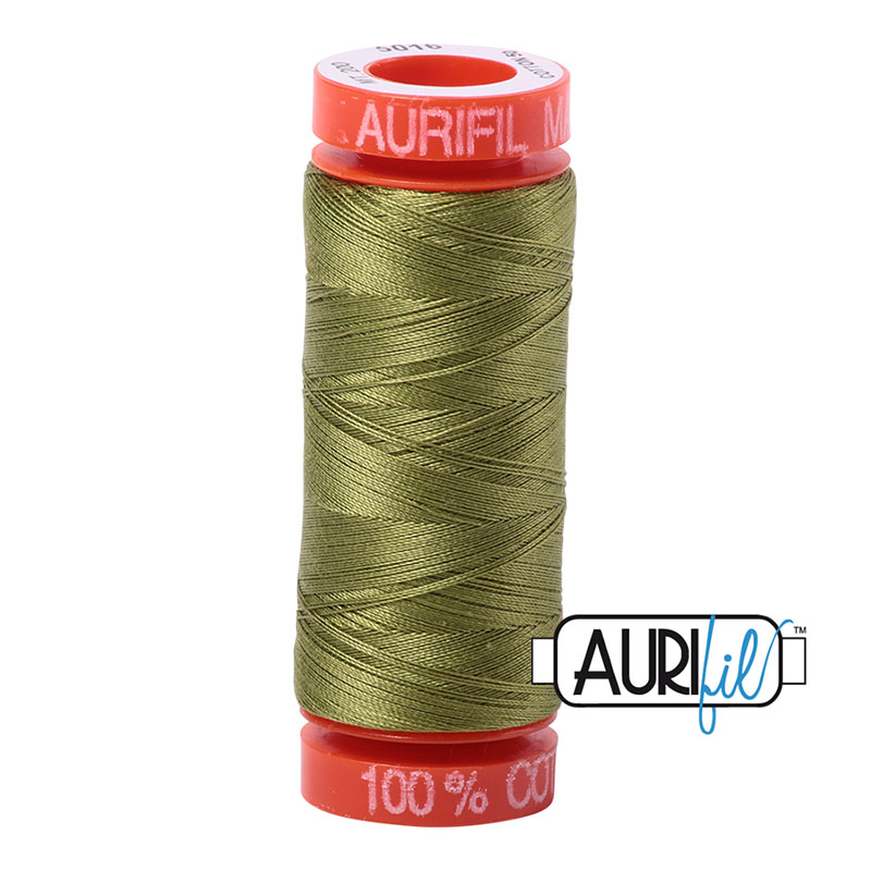 Aurifil Mako Cotton Thread 50wt 220yds - Olive Green 5016