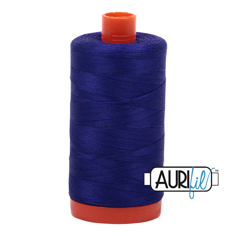 Aurifil 1200 Cotton Mako Thread Blue Violet 50wt 1300m