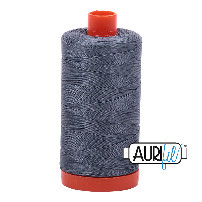Cotton Mako Thread 50wt 1300m - DARK GREY R
