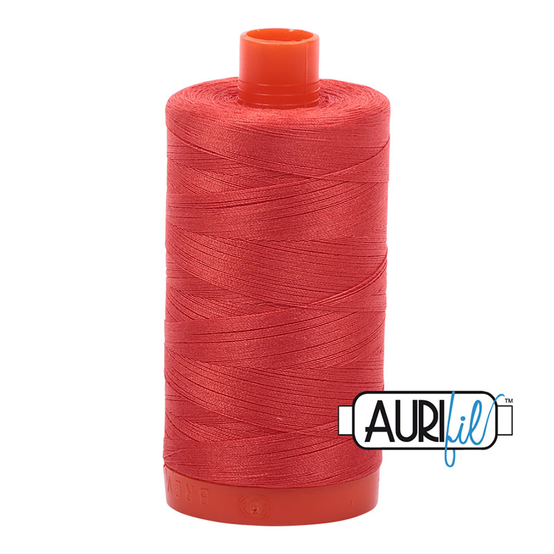 Aurifil 2277 Large Spool Thread 50wt 1300m Light Red Orange