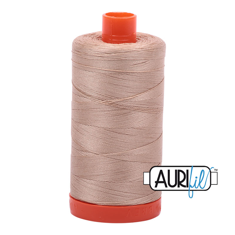Cotton Mako Thread 50wt 1300m Beige
