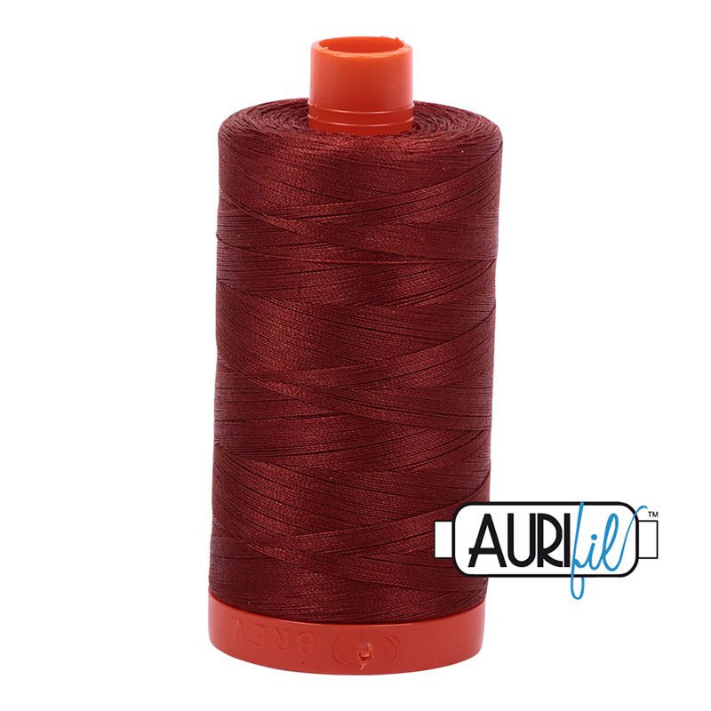 Aurifil - Cotton Mako - 50wt 1300m - Rust - 2355