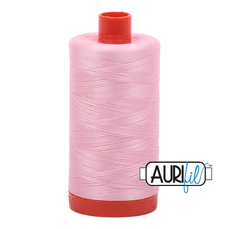 Cotton Mako Thread 50wt 1300m baby pink