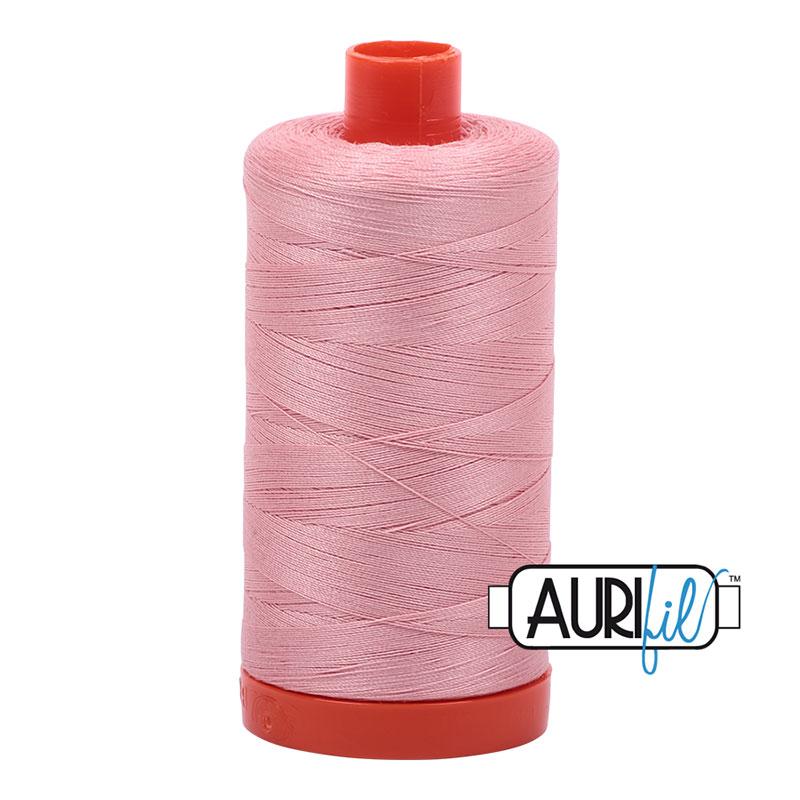 Aurifil 2437 Cotton Mako Thread Light Peony 50wt 1300m