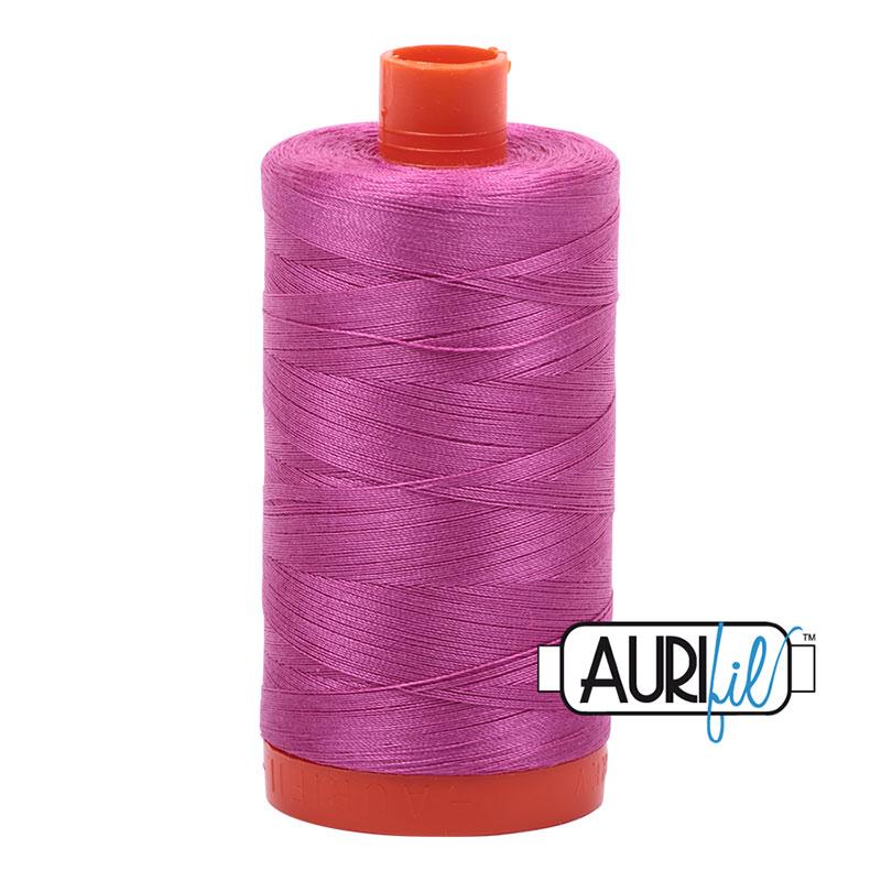 Aurifil 2588 Cotton Mako Thread 50wt 1300m Light Magenta