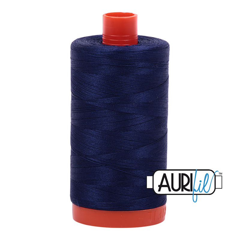 Cotton Mako Thread 50wt 1300m - MIDNIGHT R