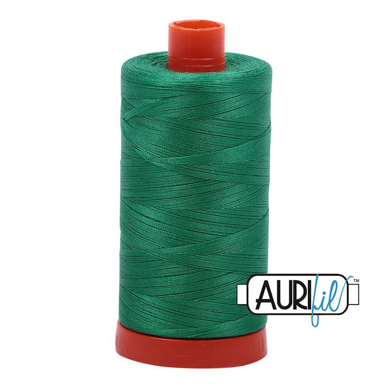 Aurifil Mako 50wt Solid 219yds - EMERALD 2865