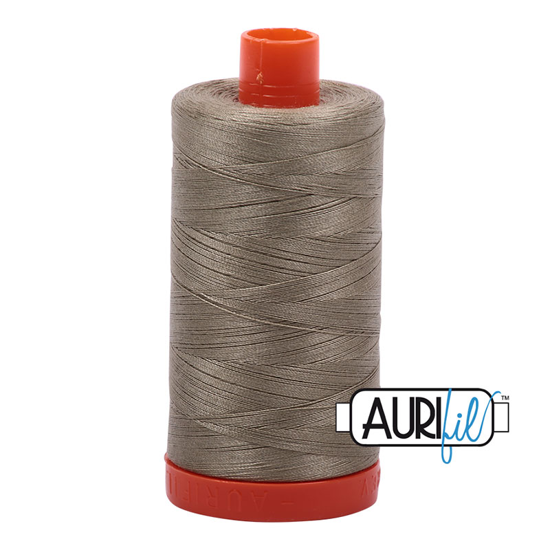 Cotton Mako Thread 50wt 1300m light khaki green