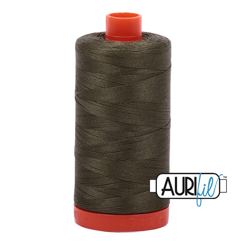 Aurifil Army Green Cotton Thread - 2905