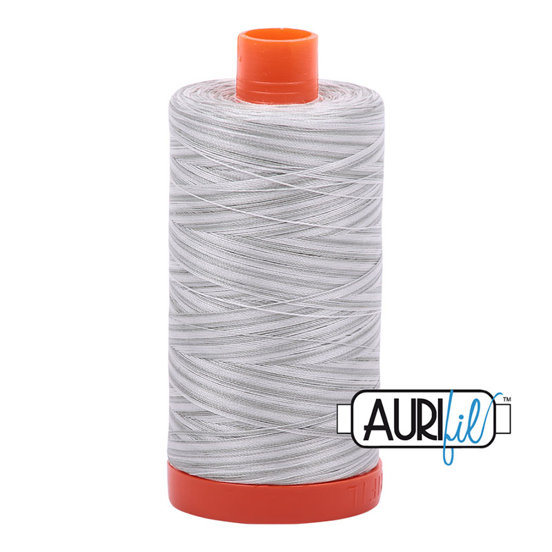 Aurifil 4060 Cotton Mako Thread 50wt 1300m Silver Moon Varigated