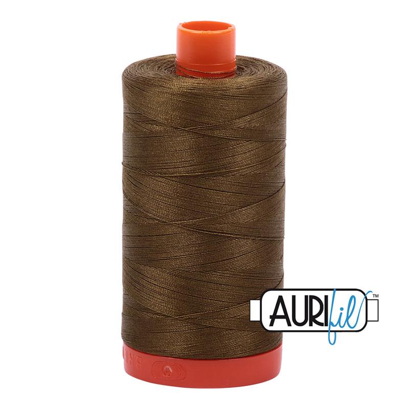 Aurifil Mako Cotton Thread 50wt  #4173 Olive Green