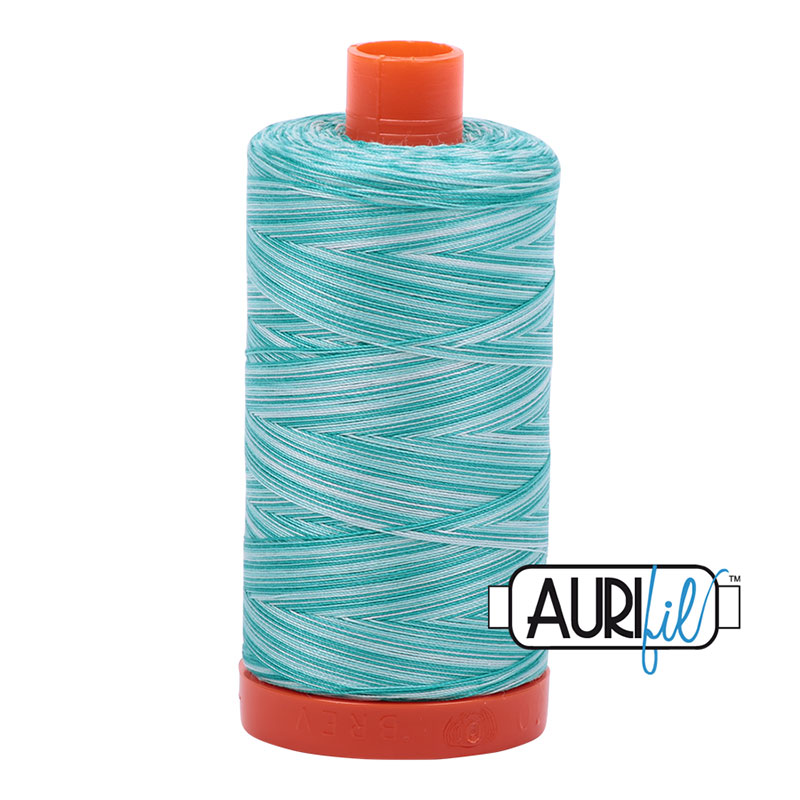 AURIFIL 4654 TURQ FOAM VAR MAKO COTTON THREAD 50wt 1422yds0m