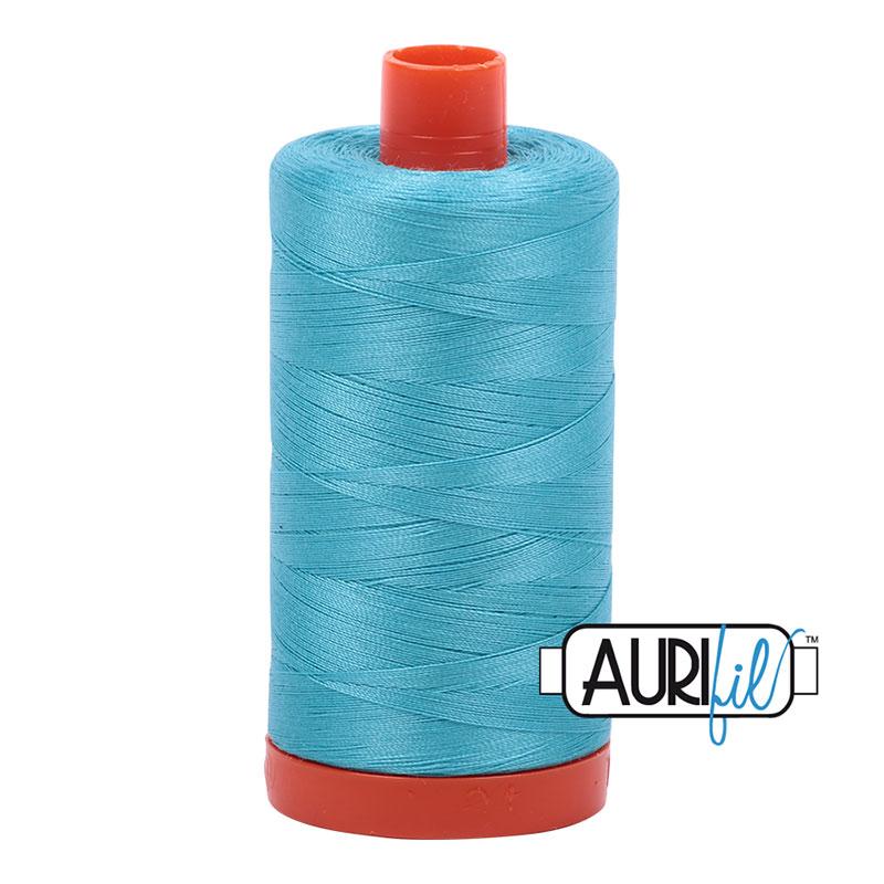 Aurifil Bright Turquoise Cotton Thread - 5005