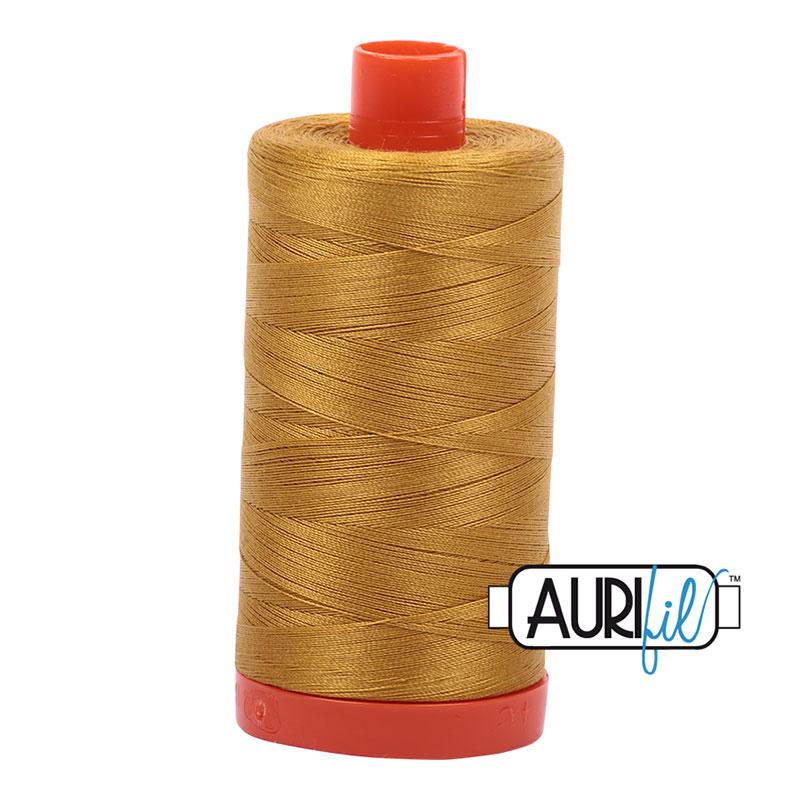 Aurifil Mako Cotton Thread 50wt 1422 yds 5022 Mustard