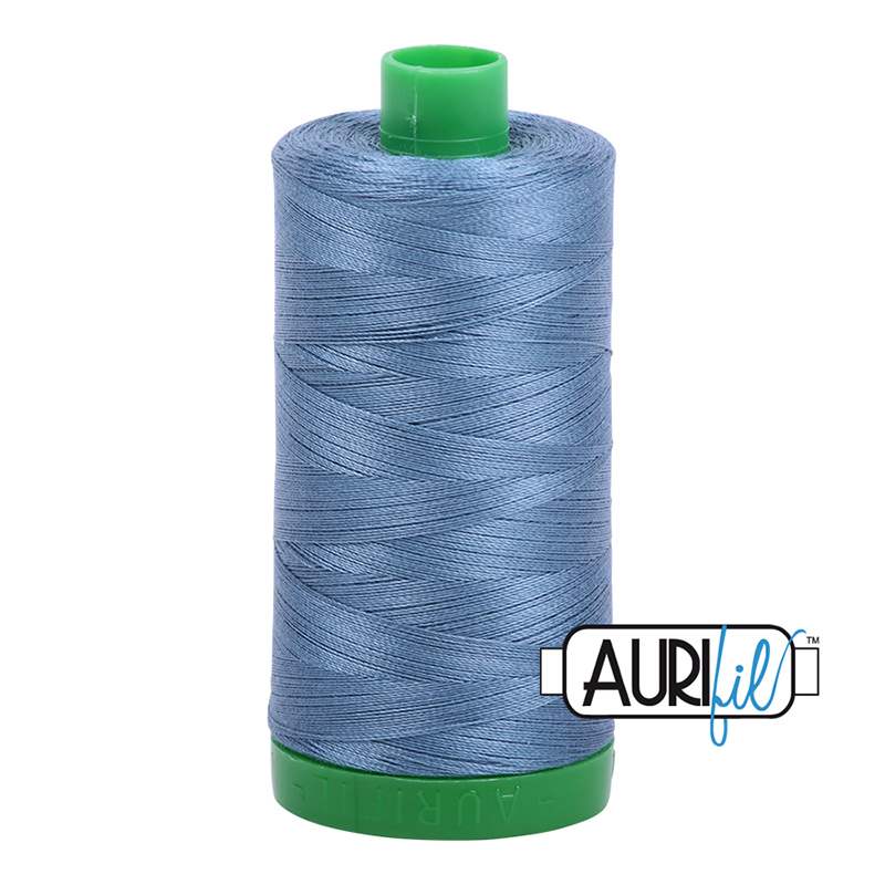 Blue Grey : Aurifil Cotton Embroidery Thread - 40wt 1422yds - #MK40SP-1126