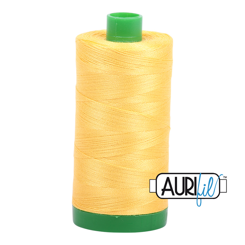 Aurifil 40wt 1000m Pale Yellow 1135