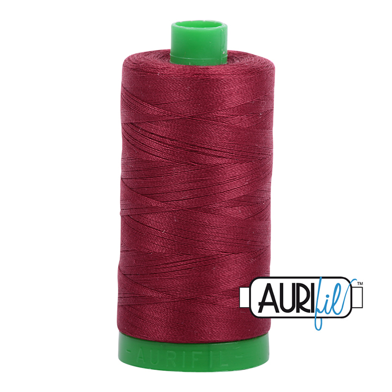Aurifil 40wt 1000m Dark Carmine Red 2460