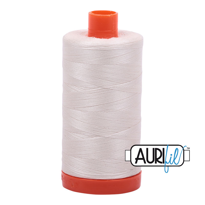 Aurifil Cotton Mako Thread 50wt 1300m/1422yds - Muslin